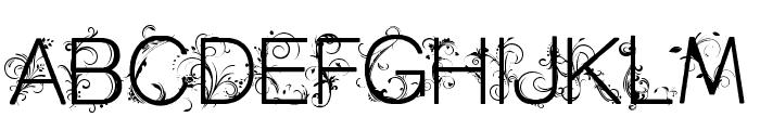 CF Flowers of Destiny Personal Regular Font UPPERCASE