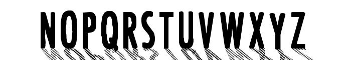CF Font Shading  Regular Font UPPERCASE