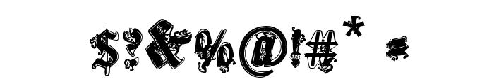 CF Gothika Regular Font OTHER CHARS