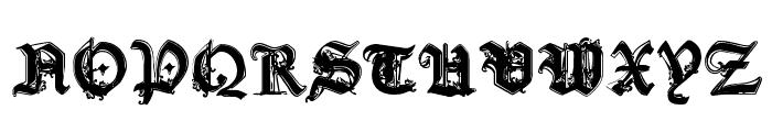 CF Gothika Regular Font UPPERCASE