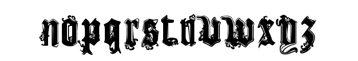 CF Gothika Regular Font LOWERCASE