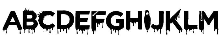 CF Halloween Regular Font UPPERCASE