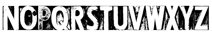 CF Letterpress Type PERSONAL Regular Font UPPERCASE