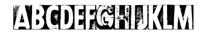 CF Letterpress Type PERSONAL Regular Font LOWERCASE