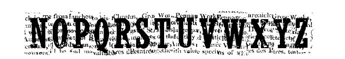 CF NelsonOldNewsPaper Regular Font UPPERCASE