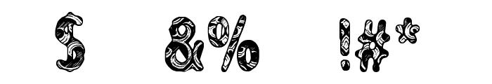 CF Never Trust A Hippy Regular Font OTHER CHARS