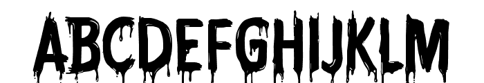 CF Nightmare PERSONAL Regular Font UPPERCASE