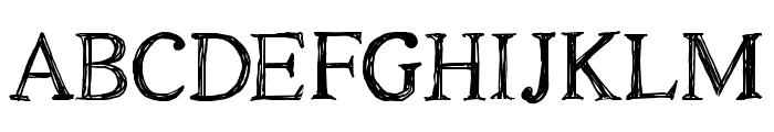 CF Oak Island PERSONEL Regular Font UPPERCASE