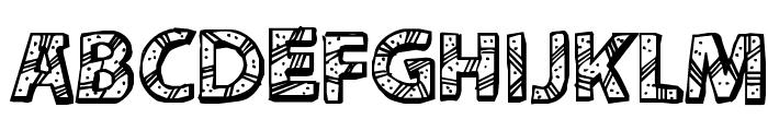 CF Peru Adventure Regular Font UPPERCASE
