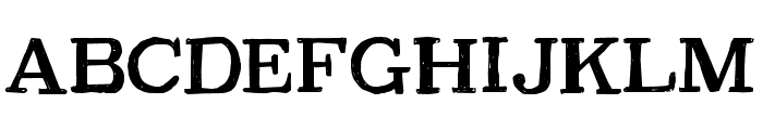 CF PetersonPERSONAL Regular Font UPPERCASE