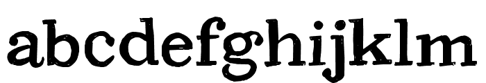 CF PetersonPERSONAL Regular Font LOWERCASE