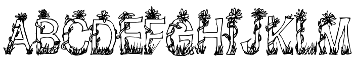CF Plants and Flowers Regular Font UPPERCASE
