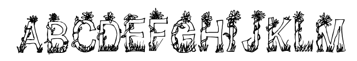 CF Plants and Flowers Regular Font LOWERCASE