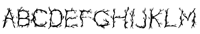 CF Pretty Trees Regular Font UPPERCASE