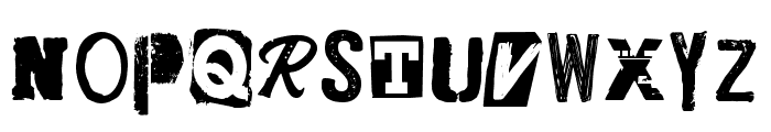 CF Punk Posters PERSONAL Regular Font UPPERCASE