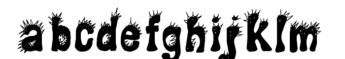 CF Punky Regular Font UPPERCASE