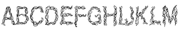 CF Ribbon Regular Font UPPERCASE