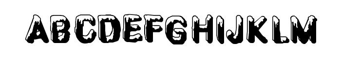 CF SnowBall Regular Font LOWERCASE