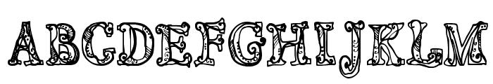 CF Sortilege Regular Font UPPERCASE