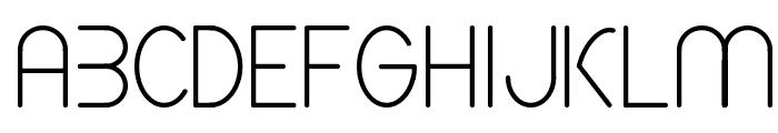 CF Spaceship Regular Font UPPERCASE