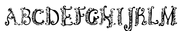 CF Spirality Regular Font UPPERCASE