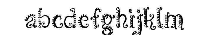 CF Spirality Regular Font LOWERCASE