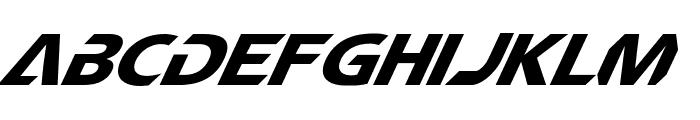 CF TechnoMania Slanted Font UPPERCASE