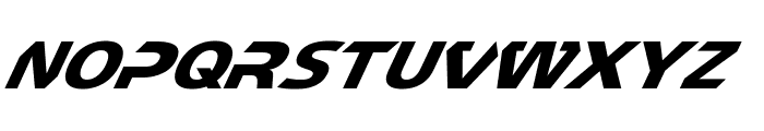 CF TechnoMania Slanted Font LOWERCASE