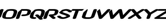 CF TechnoRama Slanted Font UPPERCASE