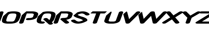 CF TechnoRama Slanted Font LOWERCASE