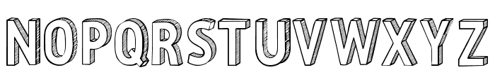 CF Three Dimensions Personal Regular Font UPPERCASE