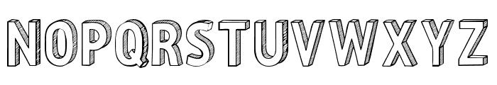 CF Three Dimensions Personal Regular Font LOWERCASE