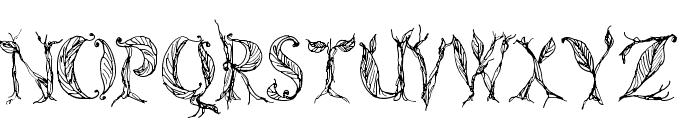 CF Tree of Life Regular Font UPPERCASE