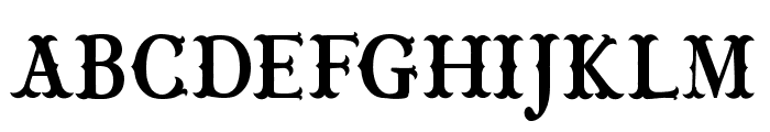 CF Wild West PERSONAL Regular Font UPPERCASE