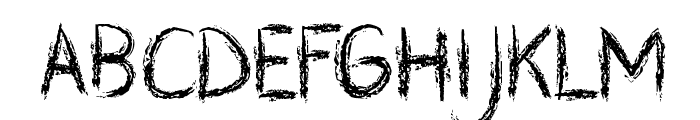 CF Zombie Party Regular Font UPPERCASE