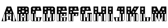 CFB1 American Patriot SOLID 2 Normal Font UPPERCASE