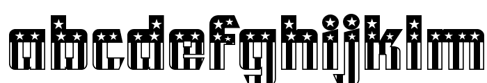 CFB1 American Patriot SOLID 2 Normal Font LOWERCASE