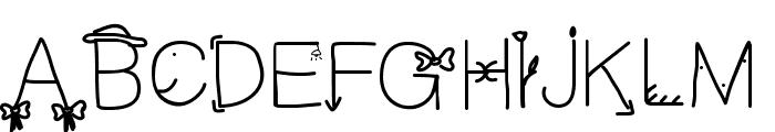 Cfun Font UPPERCASE
