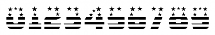CFB1 American Patriot SOLID 1 Bold Font OTHER CHARS