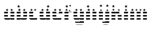 CFB1 American Patriot SOLID 1 Bold Font LOWERCASE