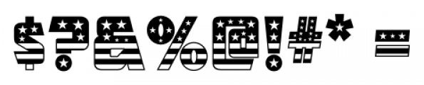 CFB1 American Patriot SOLID 1 Font OTHER CHARS