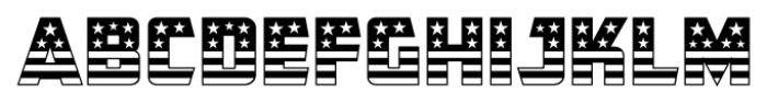 CFB1 American Patriot SOLID 1 Font UPPERCASE