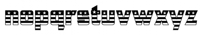 CFB1 American Patriot SOLID 1 Font LOWERCASE