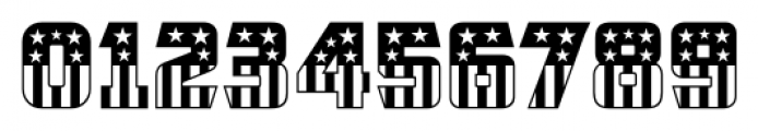 CFB1 American Patriot SOLID 2 Font OTHER CHARS