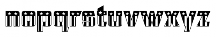 CFB1 American Patriot SOLID 2 Font LOWERCASE