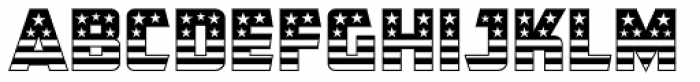 CFB1 American Patriot SOLID 1 Normal Font UPPERCASE