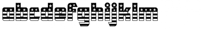CFB1 American Patriot SOLID 1 Normal Font LOWERCASE
