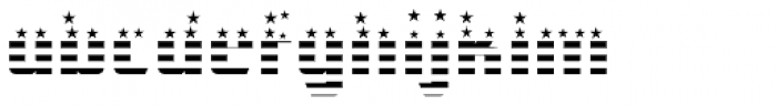 CFB1 American Patriot SPANGLE 1 Bold Font LOWERCASE