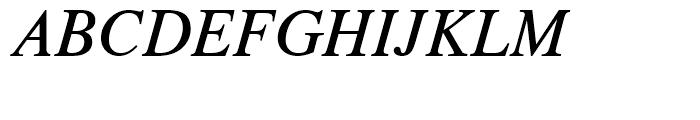 CG Times Italic Font UPPERCASE