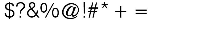 CG Triumvirate Light Font OTHER CHARS